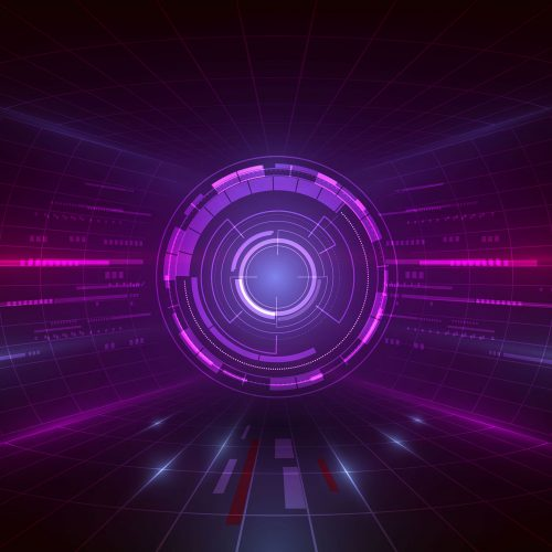 Abstract 3D Purple Circle