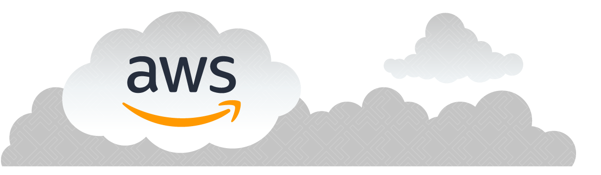 AWS logo in a floating cloud