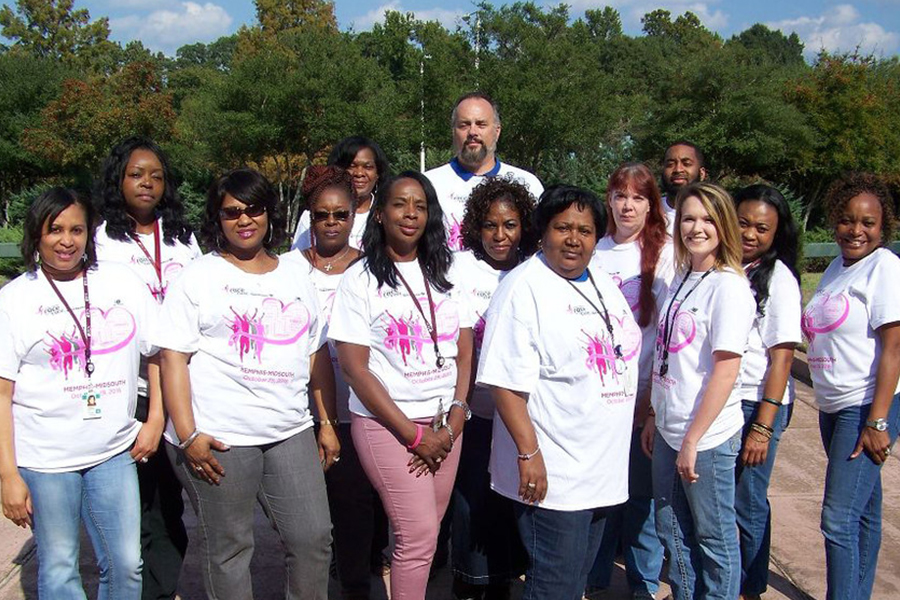 ECS Employees at breast cancer walk