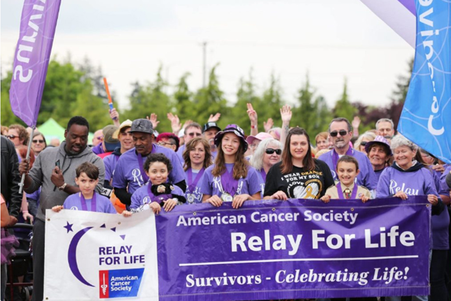 ECS Employees at relay for life walk